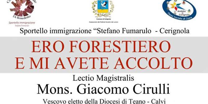 Lectio Magistralis di Monsignor Giacomo Cirulli