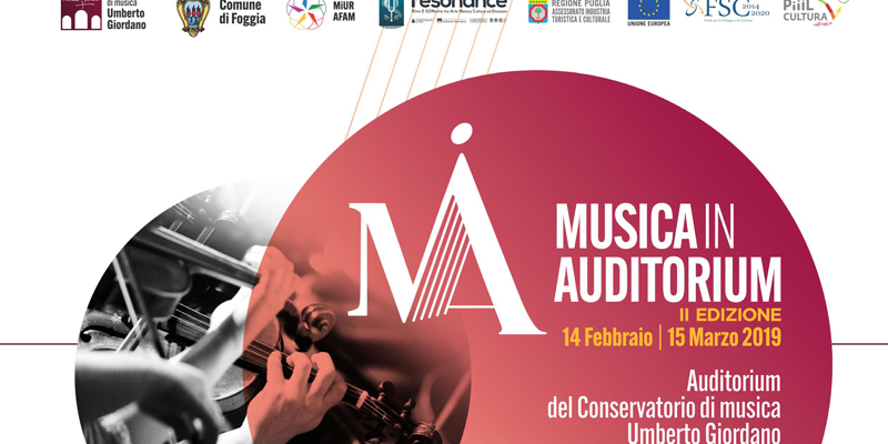 Conservatorio Giordano: al via musica in auditorium