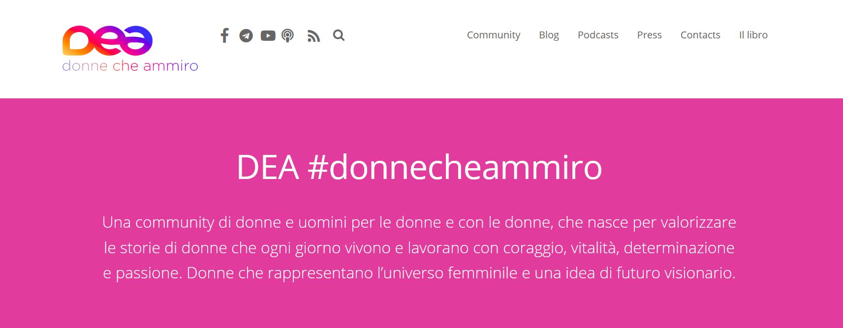 Un anno con Dea, intervista a Mariangela Cassano